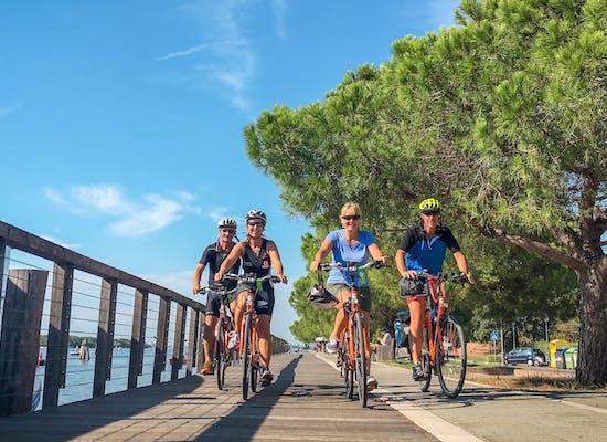 Cycling on Venice Lido