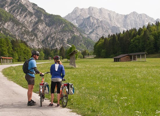 Cycling near Kranjska Gora