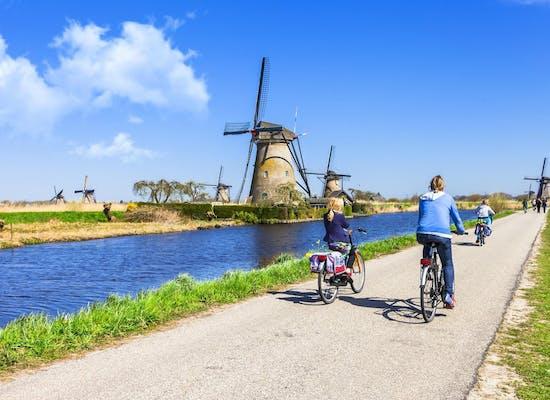Cycling near Kinderdijk