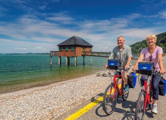 Cycling beside Lake Constance